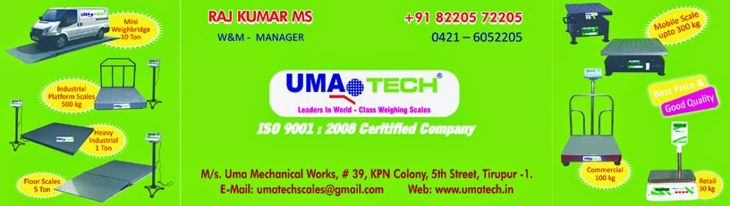 UMATECH Weighing Scales Manufacturer in Tirupur