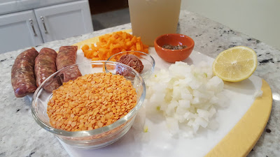 Red Lentil and Sausage Soup Ingredients