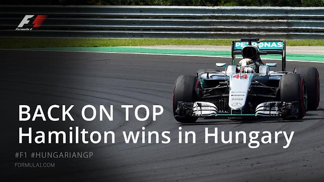 Hasil Balapan GP F1 Hungaria : Hamilton Menang, Rosberg 2, Rio 22