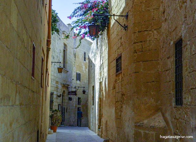 Uma rua medieval de Mdina, Malta