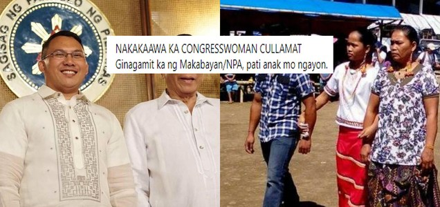 "Chairman of National Youth Commission kay Bayan Muna Rep. Eufemia Cullamat: ""Nakakaawa ka Congresswoman Cullamat"""