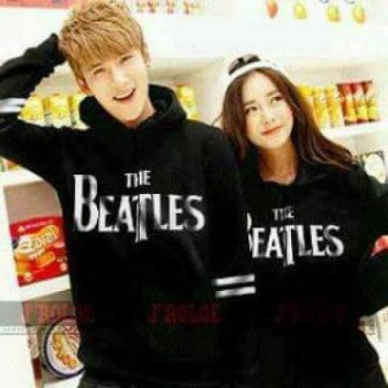 Jual Online Sweater Beatles Hitam Murah Jakarta Bahan Babytery Terbaru.