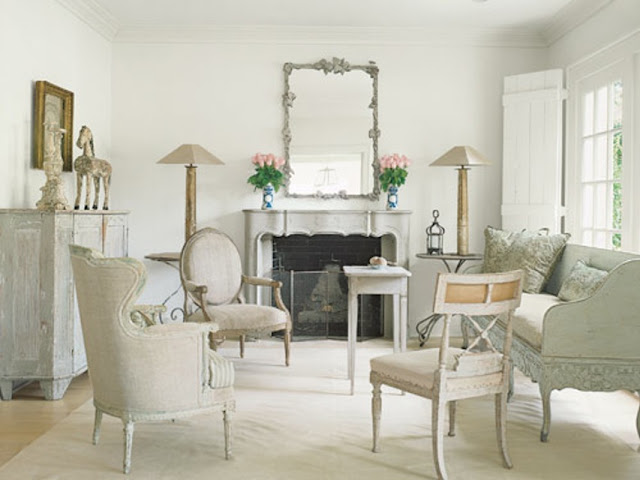 Shannon Bowers Swedish interior design antiques in living room