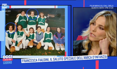 Francesca Fialdini da ragazzina baseball