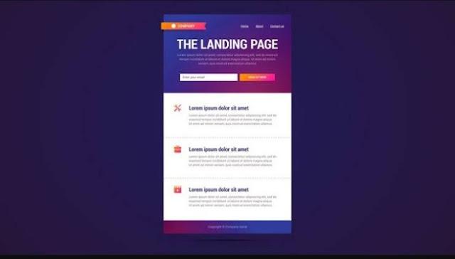 Pentingnya sebuah landing page