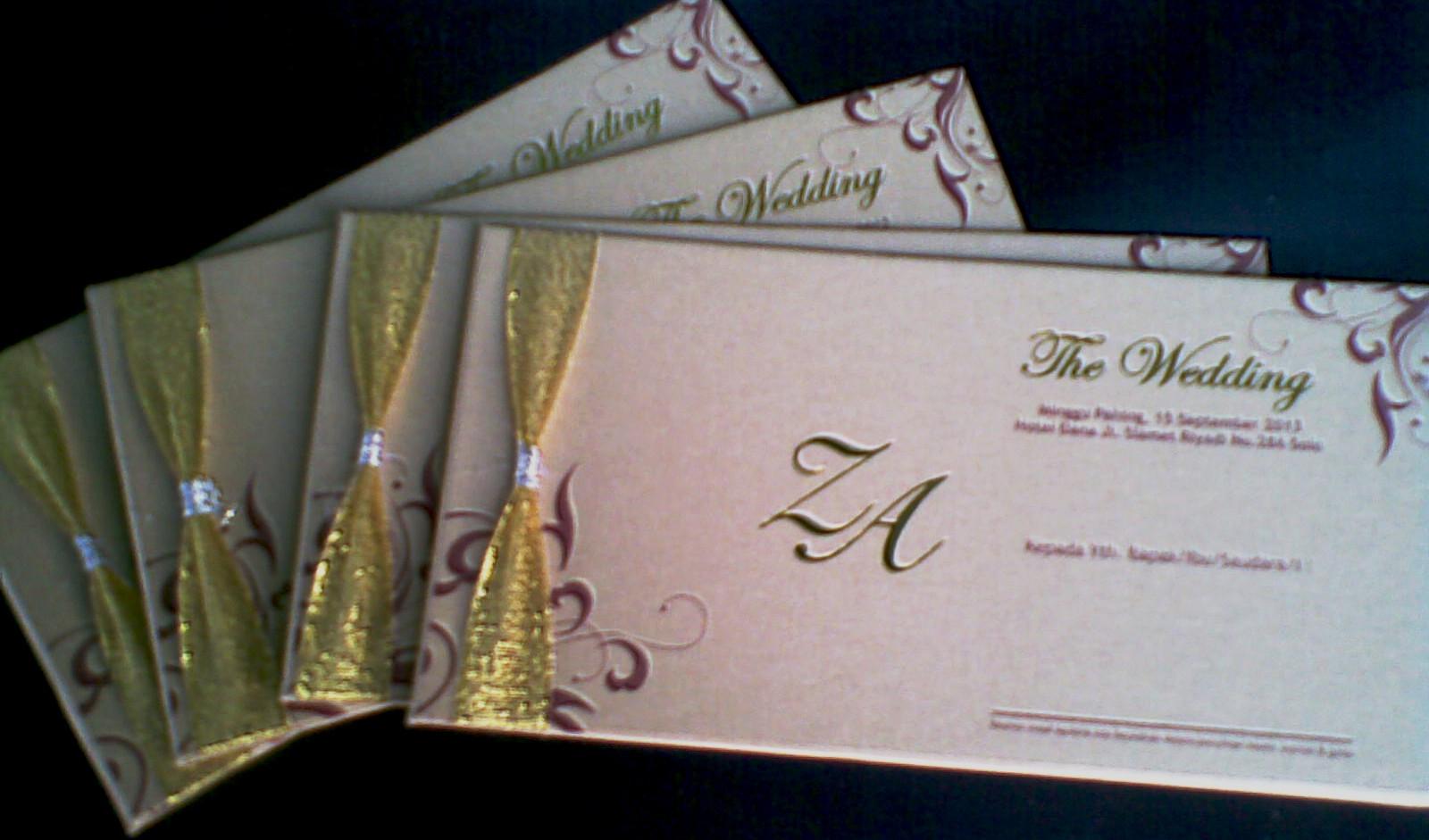 Undangan Pernikahan Emas Full Colour Enha Hc015 Undangan