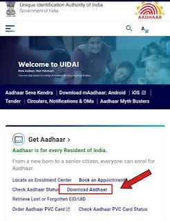Download Aadhaar UIDAI