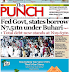 NAIJA NEWSPAPERS: TODAY'S THE PUNCH NEWSPAPER HEADLINES [11 SEPTEMBER, 2017].