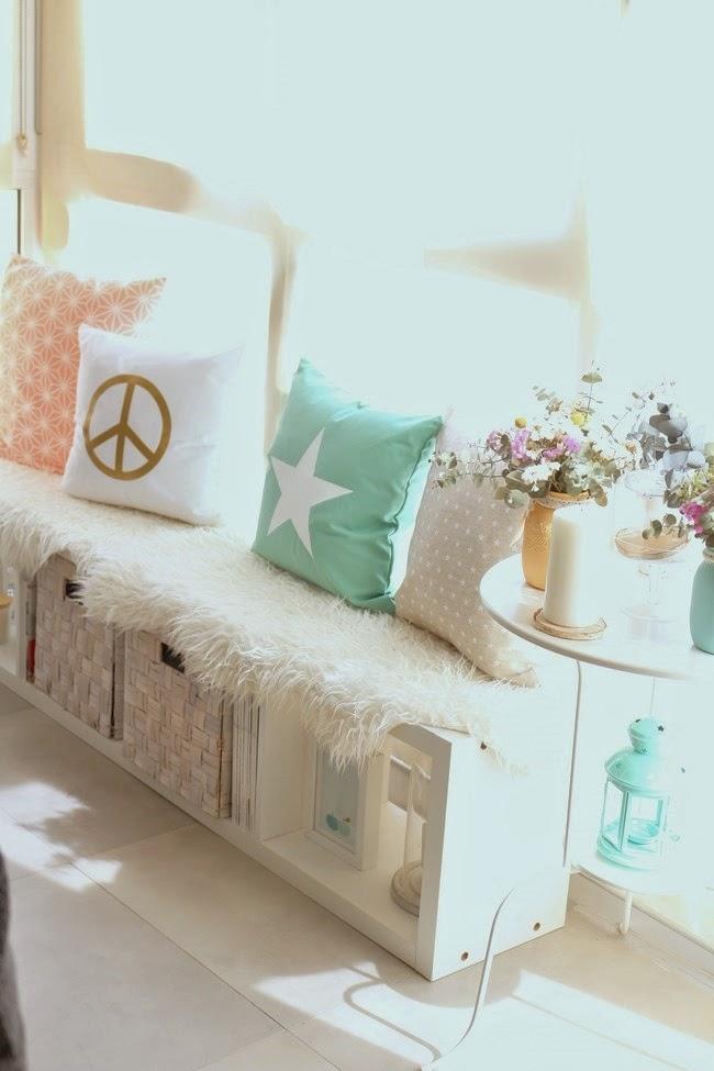 as ha quedado nuestro banco de estilo n rdico boho deco chic. Black Bedroom Furniture Sets. Home Design Ideas
