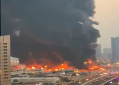 Another Fire Outbreak Hits Dubai Central Market Barely 24hours After Beirut Fire (VIDEO)