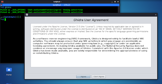 Ghidra User agreement