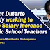 PRRD is working to fund the salary increase for teachers
