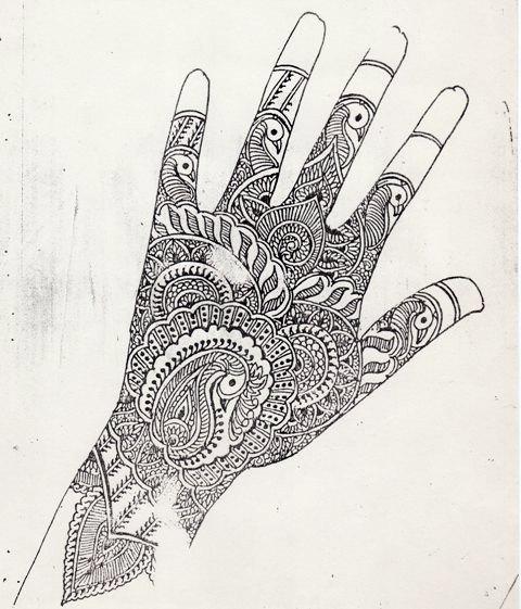 My Maharashtra: Bridal mehndi design for the right hand