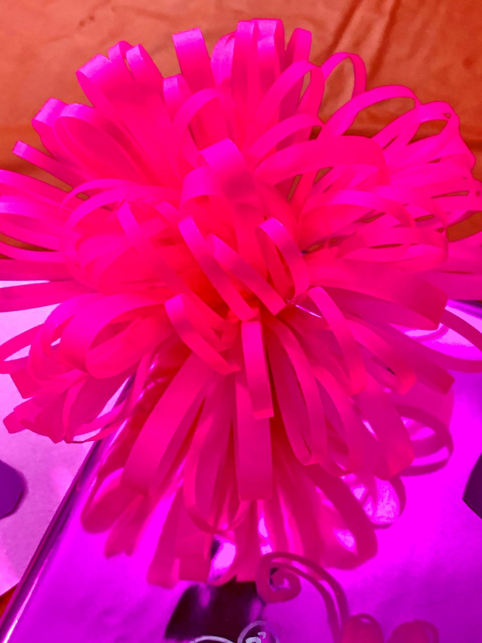 Pink Pom Pom Flower for Valentine's box