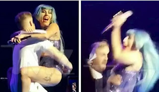 Embarrassing Moment Lady Gaga Falls Off Stage As Fan Dry-Humps Her