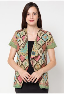 Model Baju Kerja Batik Cardigan