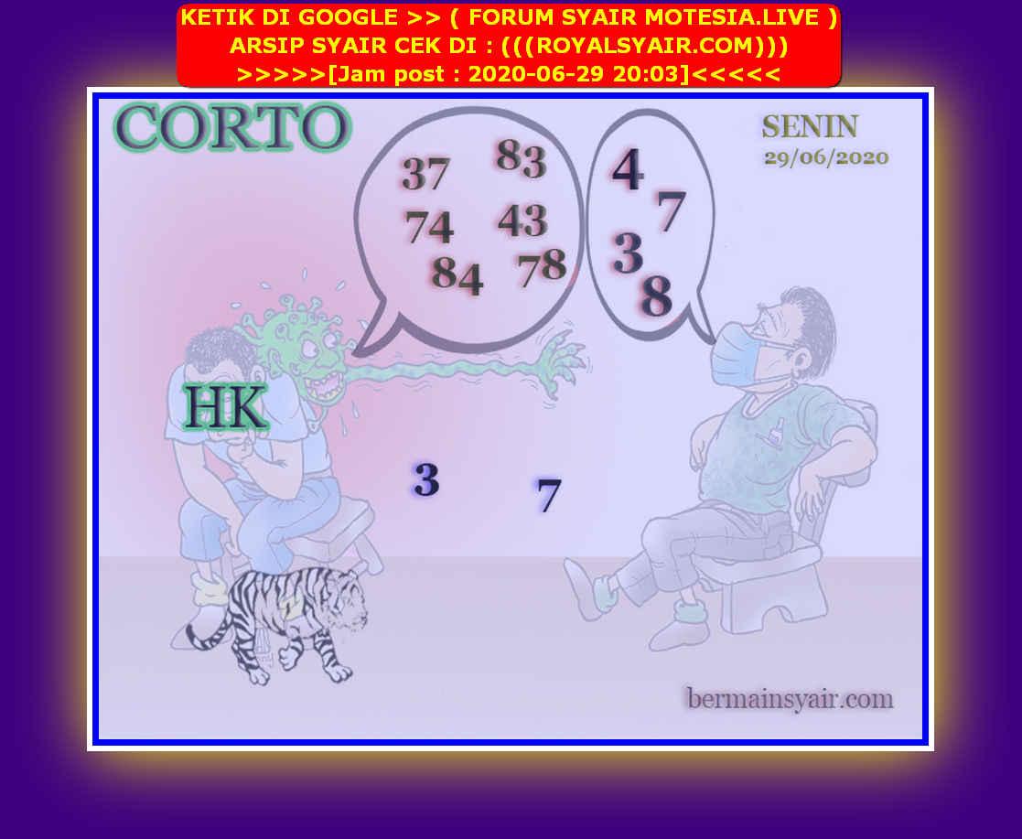 Kode syair Hongkong Senin 29 Juni 2020 136