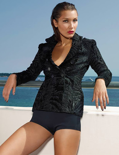 Bella Hadid fashion model photo shoot Madame Figaro Magazine October 2017