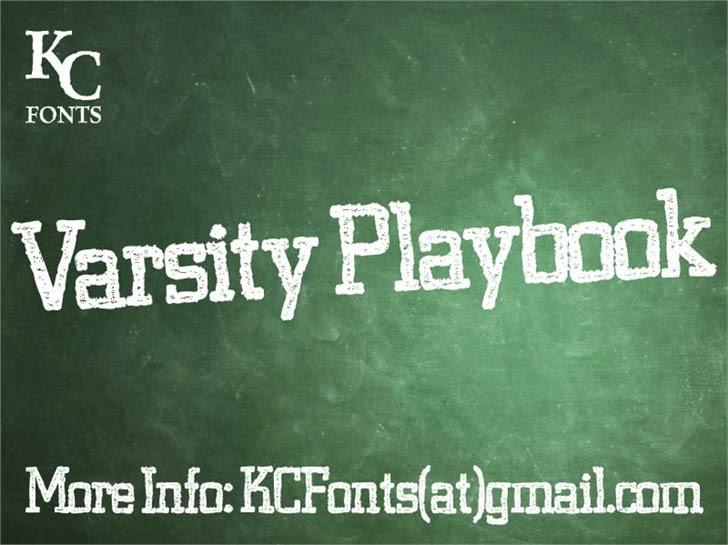 Varsity Playbook font