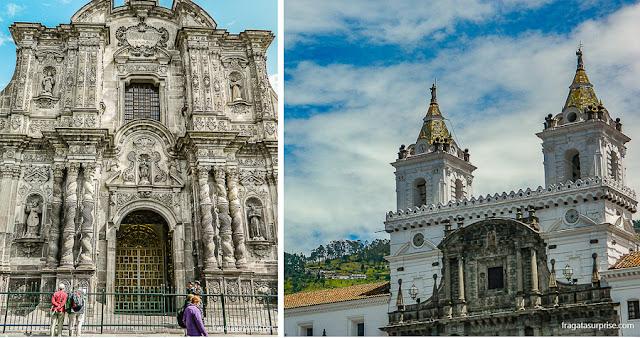 Igrejas de Quito: La Compañia e San Francisco