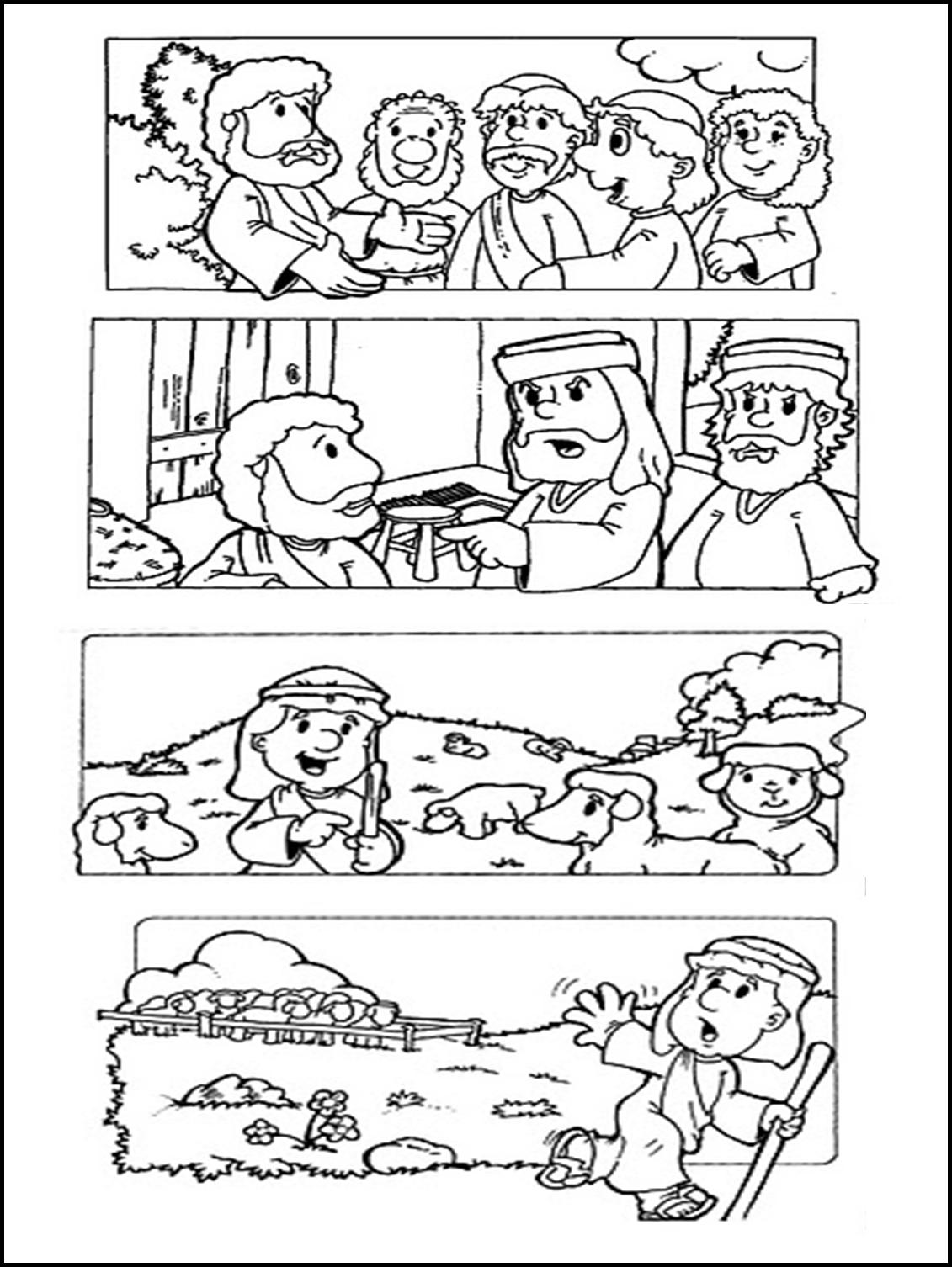 El Renuevo De Jehova: La Historia de Jose - Imagenes para colorear ...