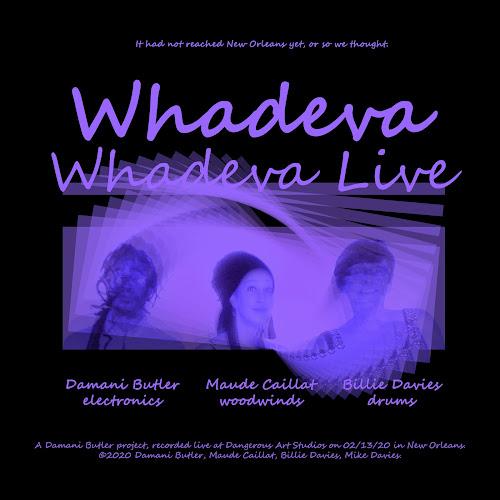 Whadeva, Whadeva Live, an album by Damani Butler, Maude Caillat and Billie Davies