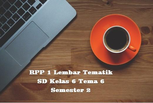 RPP 1 Lembar Tematik SD Kelas 6 Tema 6 Semester 2