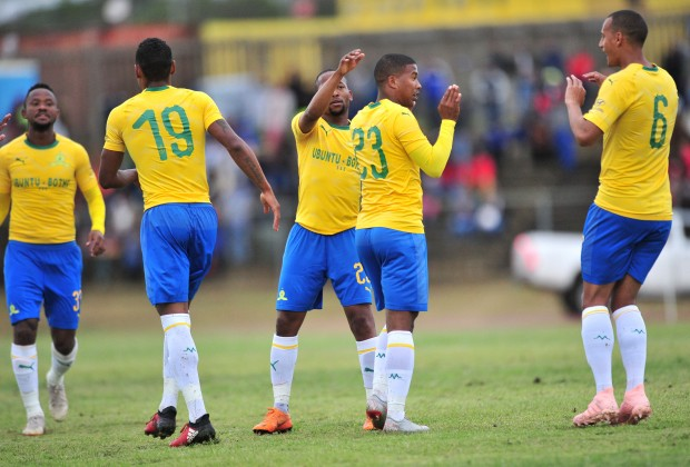 Mamelodi Sundowns celebrate a goal