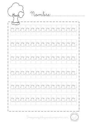 Caligrafia para imprimir a