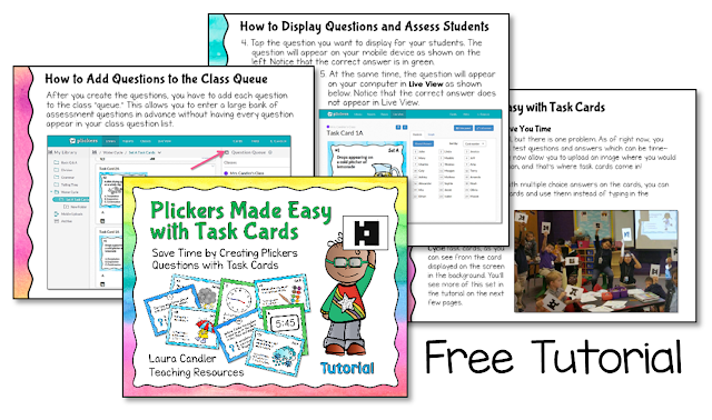 Did you know that task card images can be uploaded and used as Plickers questions. Download a free tutorial to learn how!