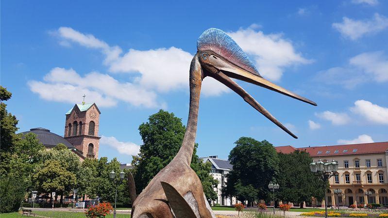 Staatlichen Museum für Naturkunde in Karlsrurhe - Dinosaurier und Stephanskirche
