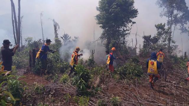 Belasan Personil Diturunkan KADAOPS Malili Padamkan Kebakaran Lahan Warga