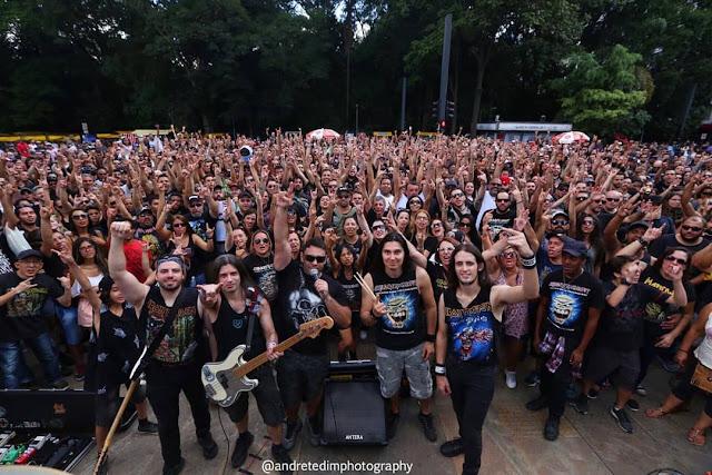 Banda cover do Iron Maiden é multada pela Prefeitura por show lotado na Avenida Paulista