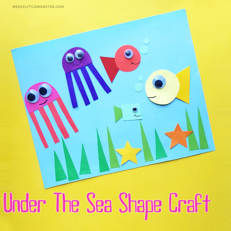 Under the sea shape craft for kids