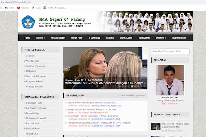 Aplikasi Berbasis Web Untuk Informasi Sekolah dengan PHP Codeigniter Gratis