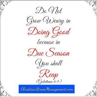 Do not grow weary in doing good because in due season you shall reap. (Galatians 6:9)