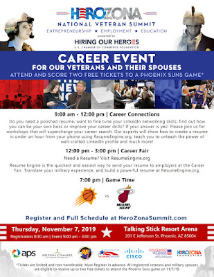graphic shows career event time, location and date