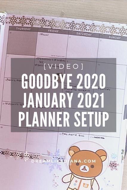 Goodbye 2020 January 2021 Planner Setup