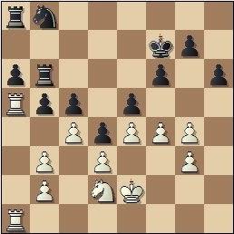 Partida de ajedrez Rico - Prins, posición después de 31.c4!