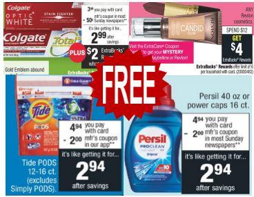 free persil cvs coupon deal