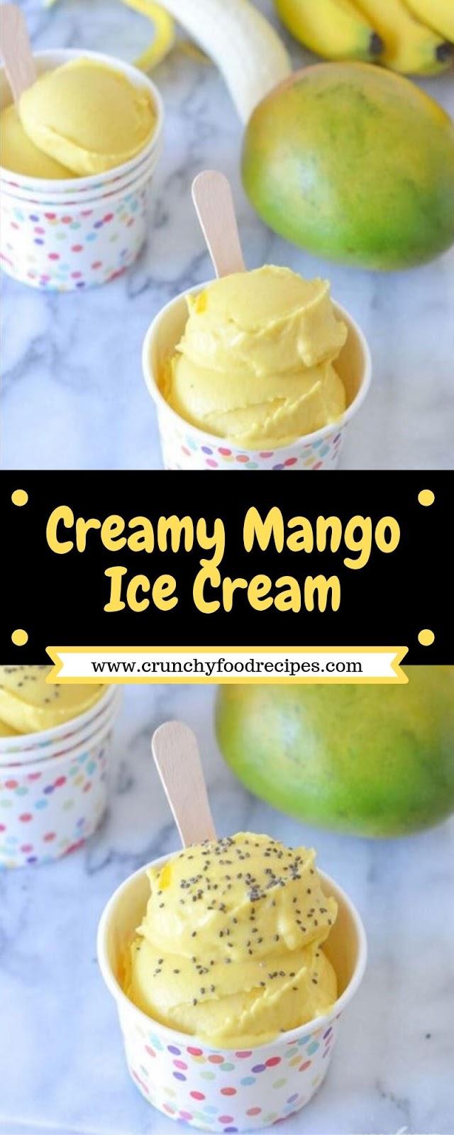 Creamy Mango Ice Cream
