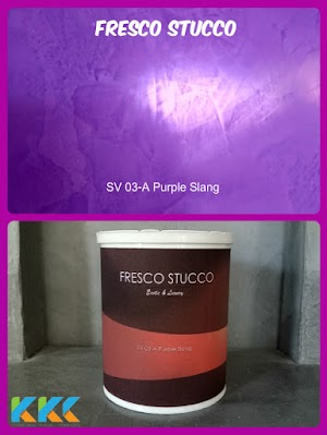 Fresco Stucco SV 03-A Purple Slang kemasan 1Kg