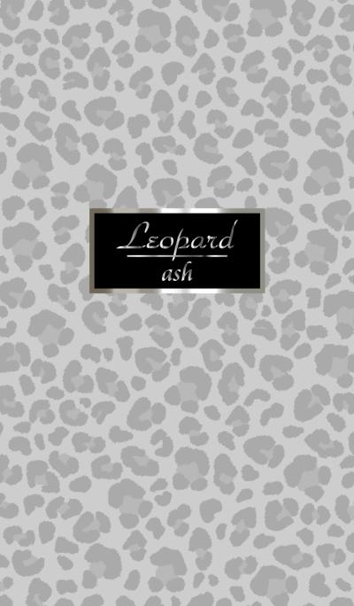 Leopard pattern Ash gray
