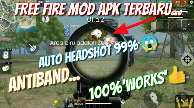Download FFH4X Apk Mod Auto Headshot Free Fire Terbaru 100 Work