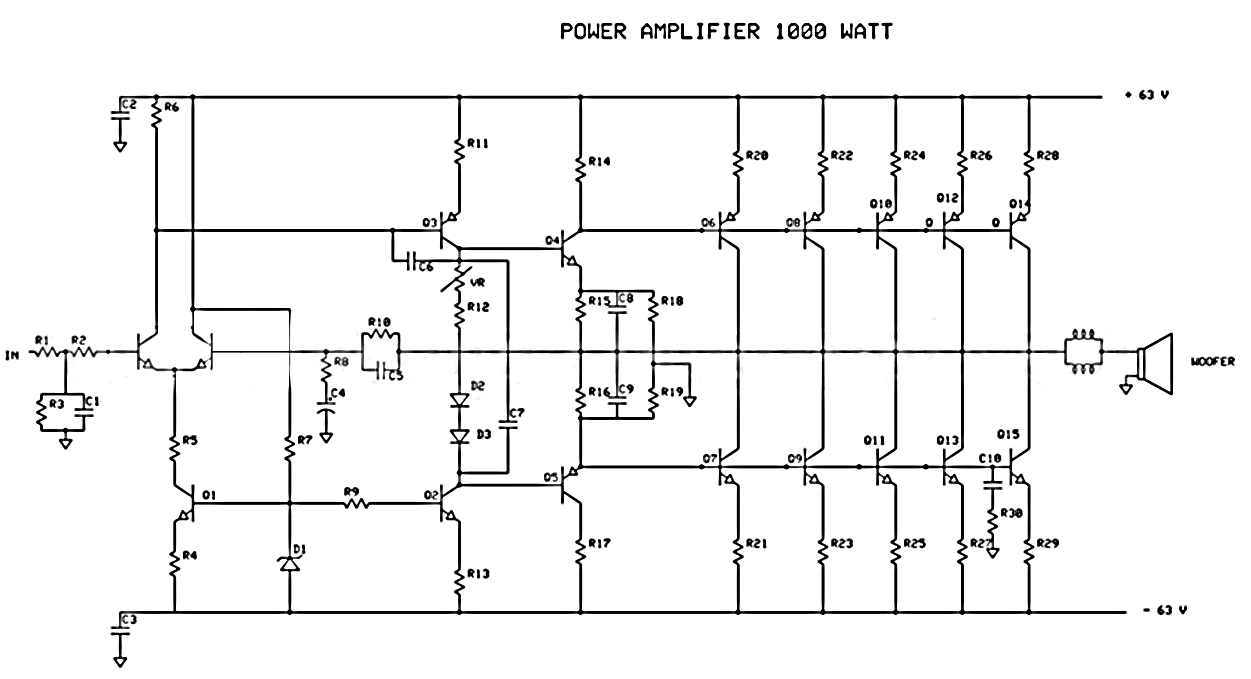 How to Create 1000 Watt Power Amplifier Electronic Circuit