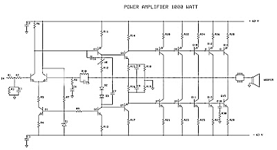 Identify diagram: 1000W Power Amplifier