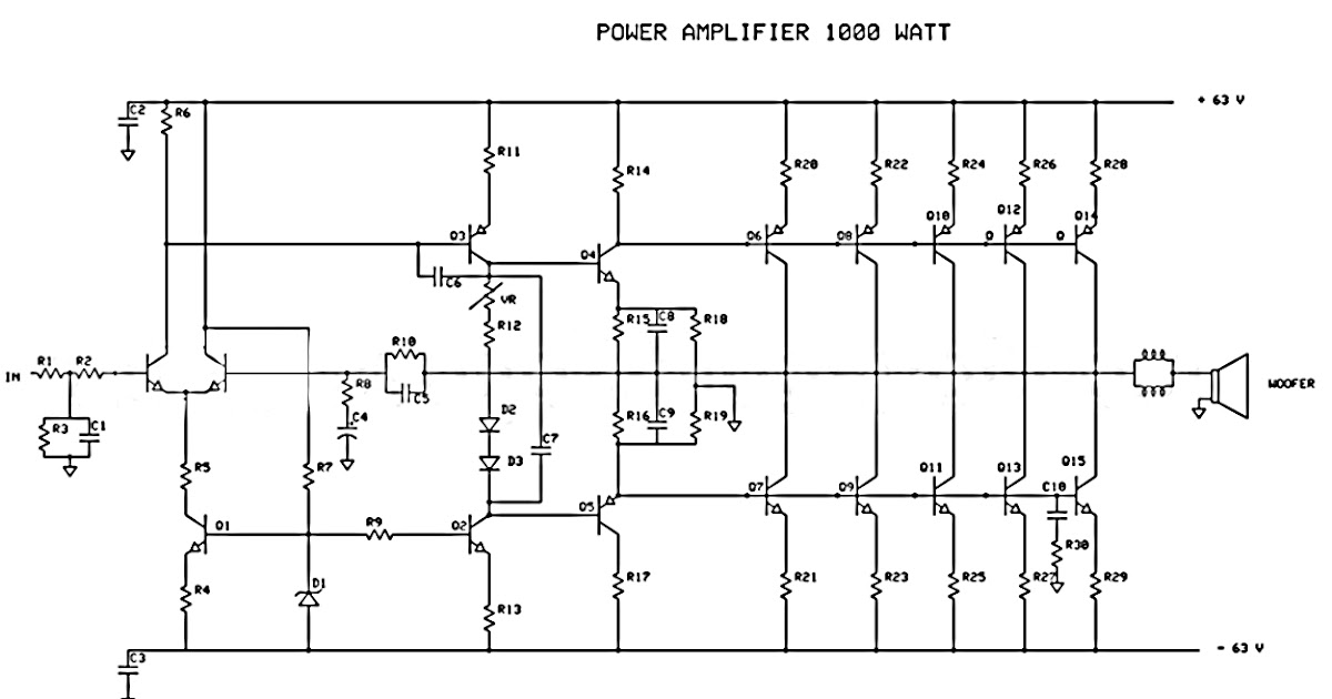 make a amplifire 5000watt crcuit diagram