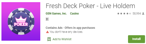 Game Online Terbaru Fresh Deck Poker - Live Holdem
