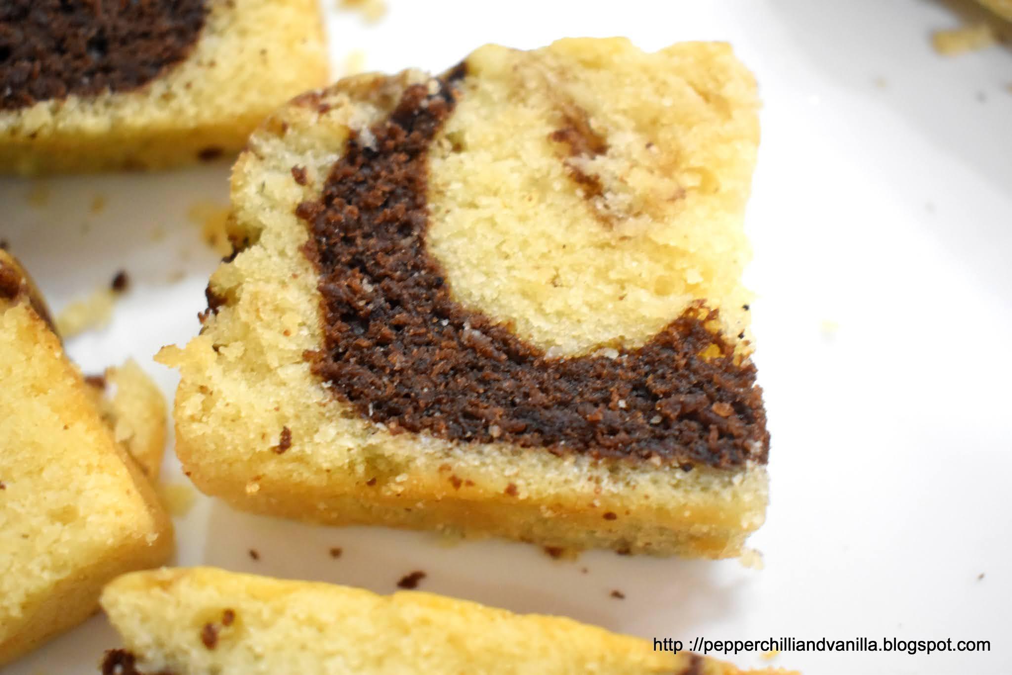 easy eggfree marble hot milk sponge cake