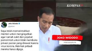 Cerdas! Kubu HRS Balikkan Ucapan Jokowi Soal Privasi Pasien: Hormati Kode Etik
